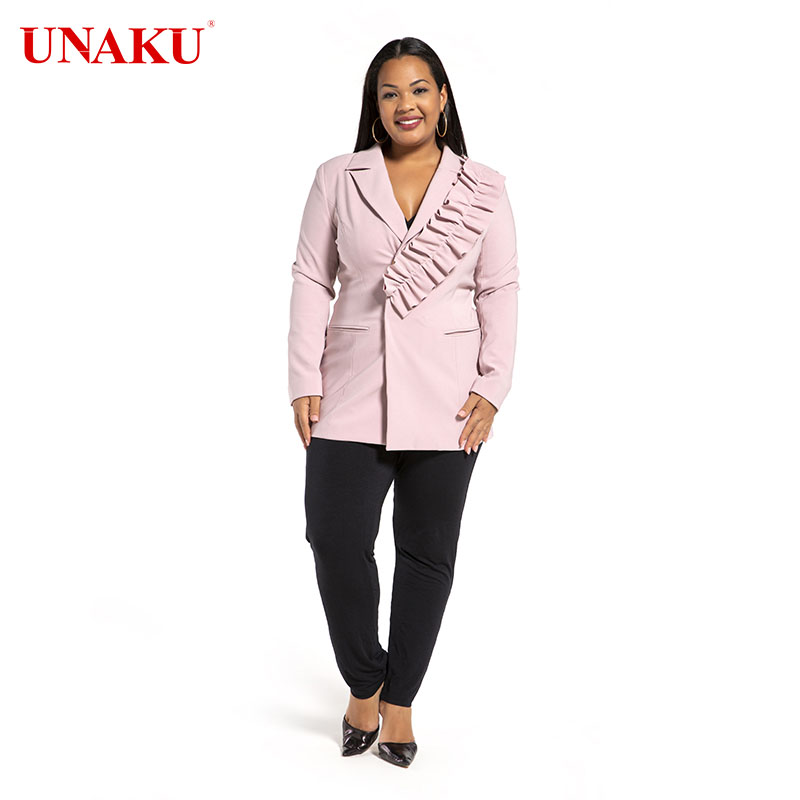Pink Flower-shaped suit jacket