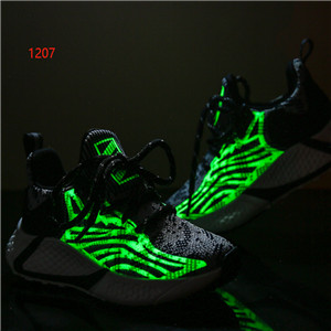 Luminous contrast color casual sneakers