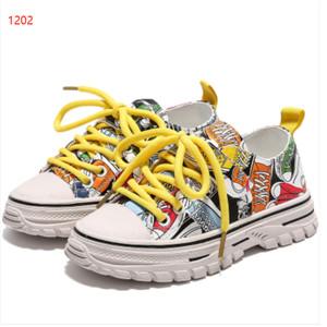 Graffiti PU rubber non-slip casual shoes