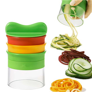 Three-piece spiral grater