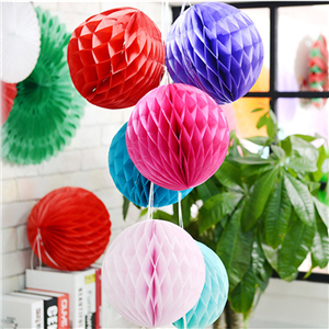 Festive room pull flower honeycomb ball