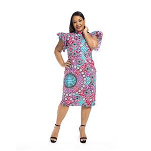 Cute girl in floral dress