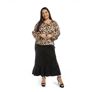 Elegant Leopard Print Top