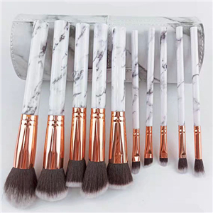 Marbled makeup set