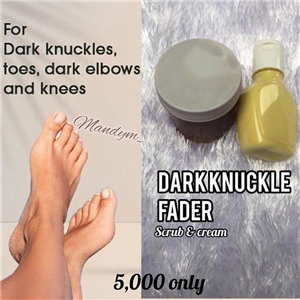 Dark knuckle fader scrub & cream
