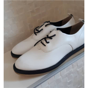 Clark's white lace up shoes