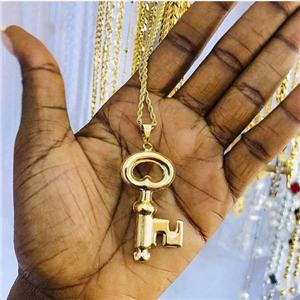 Titanium steel chain and pendant