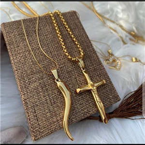 Delicate gold plated chain and pendant