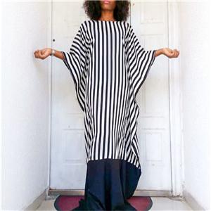 Nina Boubou Monochrome butterfly sleeves dress