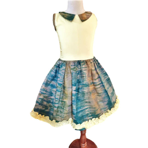 Eesha tie dye cotton dress with Collar.