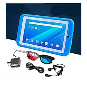 7-Inch 1GB RAM + 16GB Storage Android 6.0 K89 Children Tablet(Pre-Installed Educational Apps)+ Proof Case Blue
