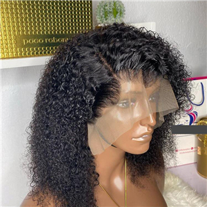 Water curls frontal wig