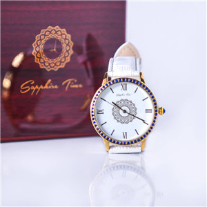 Sapphire Time Leather wristwatch