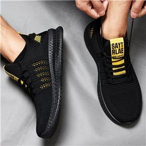 Fashionanle Unisex Sneakers-Black Yellow