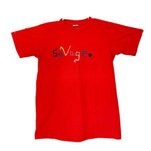 The Horizontal Savage T-shirt (crochet detailed)