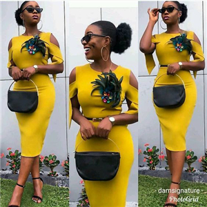 Sleeveless,v-neck Ankara designs