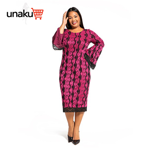 Ankara prints with lace ruffle sleeve dress