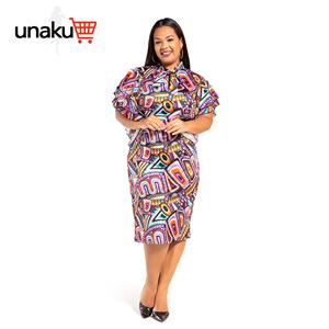 Ankara prints with ruffle sleeve dress
