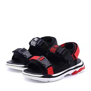 Velcro flat platform sandals
