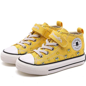 Mid-top canvas breathable children's shoes