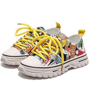 Graffiti PU rubber non-slip casual shoes
