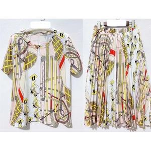 Medium-length stylish casual print T-shirt suit skirt