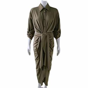 Stylish irregular hip-wrap skirt