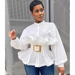 Stylish and elegant bubble-sleeved top