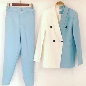Stylish collage trouser suit professional suit
