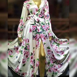 Stylish printed long dress