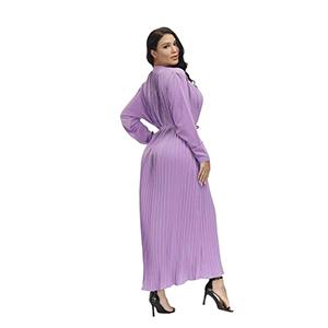 Stylish printed long coat dress