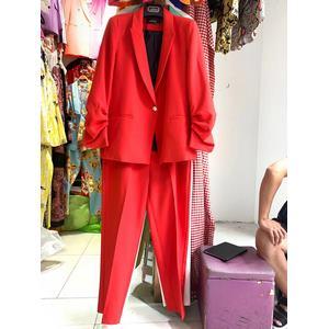 Solid-color suit trousers professional suit
