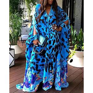 Stylish printed robe dress