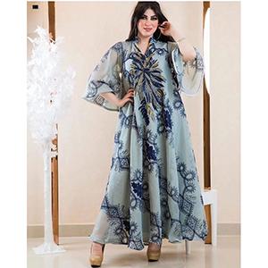 Stylish printed robe jacket dress