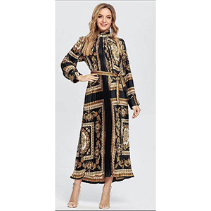 Stylish printed pleated dress