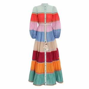 Bump-colored loose-fitting dress