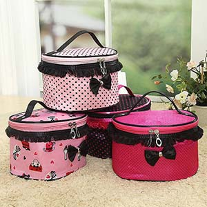 Cylinder compressible waterproof cosmetic bag