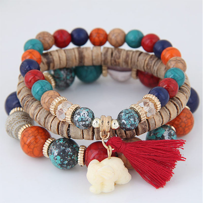 Starfish shell pearl multi-layer bracelet