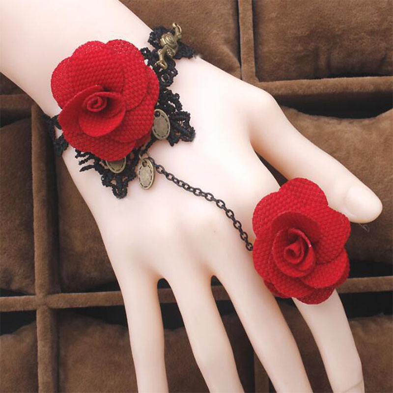 Lace Rose Bracelet Wearing Ring Bracelet