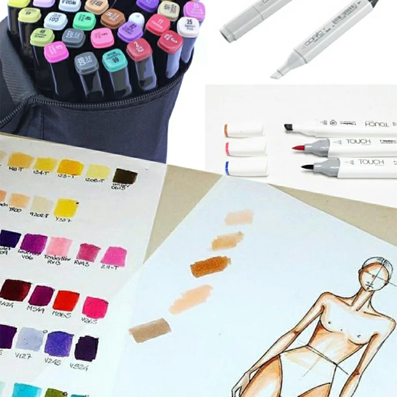 Common tools and basic techniques in fashion painting