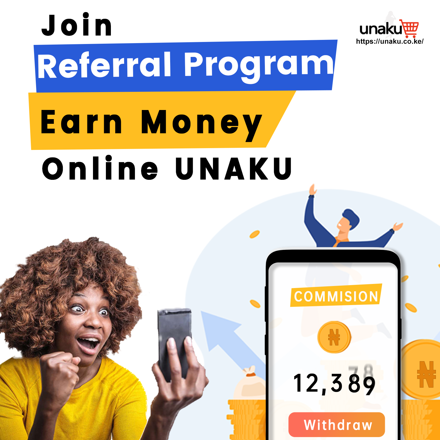 There are 2 ways to earn commission as UNAKU City marketer and Vendor marketer seperately.