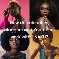 How do celebrities, bloggers and Youtubers work with UNAKU?