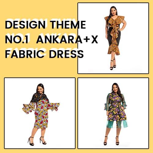 Design Theme No.1  Ankara+X fabric dress