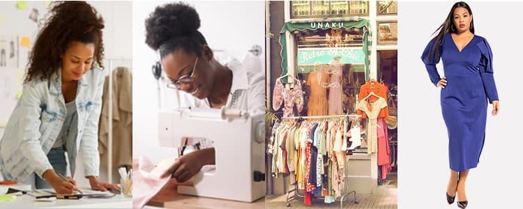 2插图 设计师,裁缝,店铺,时尚爱好者,消费者穿UNAKU图,一沓钱奈拉。.jpg